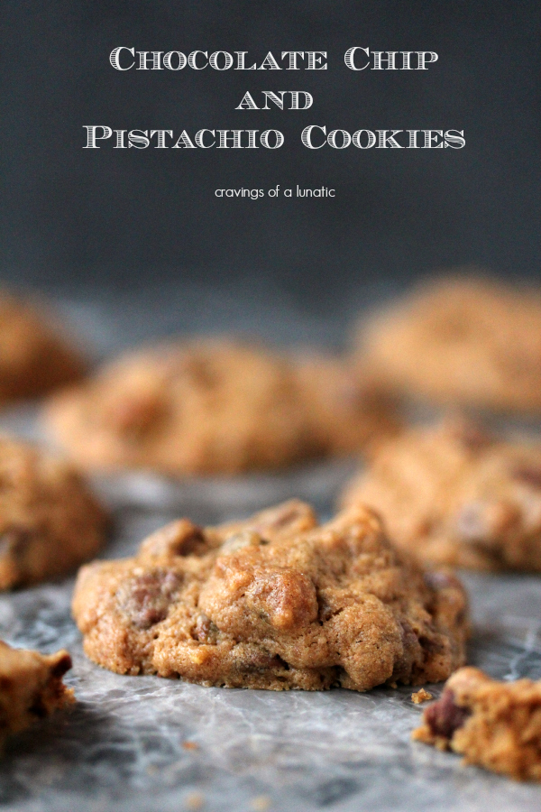 Chocolate Chip and Pistachio Cookies | Cravings of a Lunatic