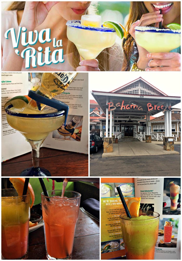collage image of our trip to Bahama Breeze in Michigan