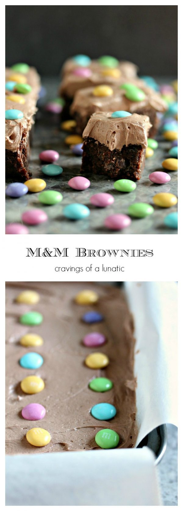 M&M Brownies. The Best Brownies in the World get a fresh makeover for Easter. This brownie recipe is simple to make and my family's personal favourite.