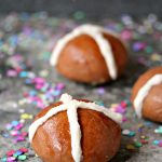 Stuffed Chocolate Hot Cross Buns {Food Fanatic}