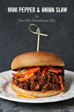 Mini Pepper and Onion Slaw for Farm Rich Smokehouse BBQ
