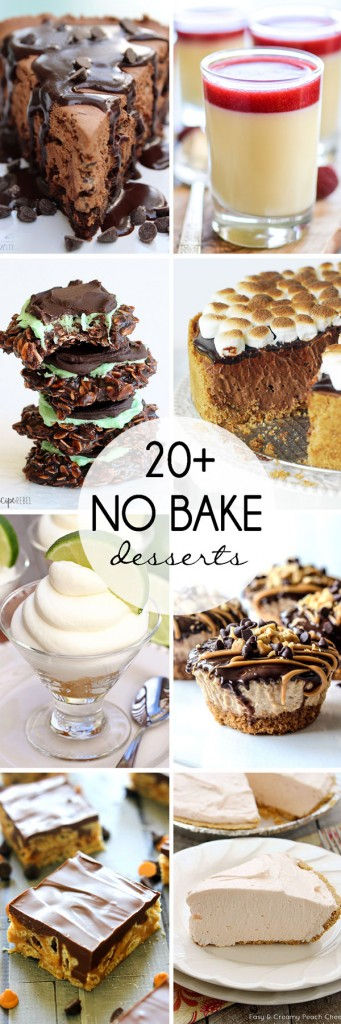 20+ No Bake Desserts