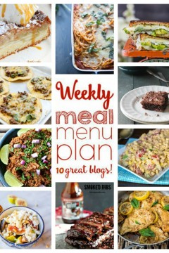 Weekly Meal Plan collage photo