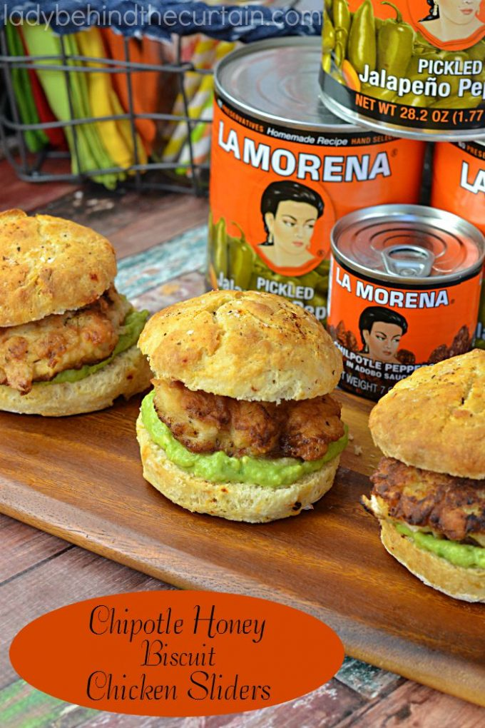 Chipotle Honey Biscuit Chicken Sliders from Lady Behind the Curtain