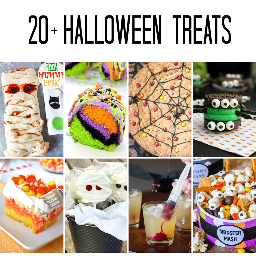 halloween treats collage image