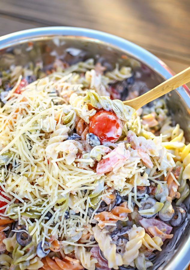 Parmesan Ranch Parmesan Salad by Kleinworth & Co., featured on cravingsofalunatic.com for Tailgating Time Week 4