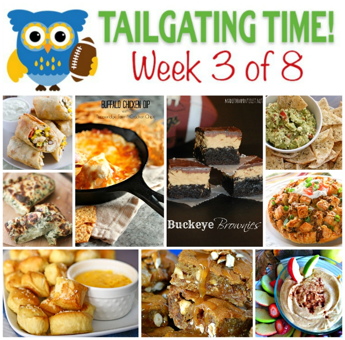Get these 9 sweet and savory tailgating recipes by 9 incredible bloggers! Featured on craviingsofalunatic.com