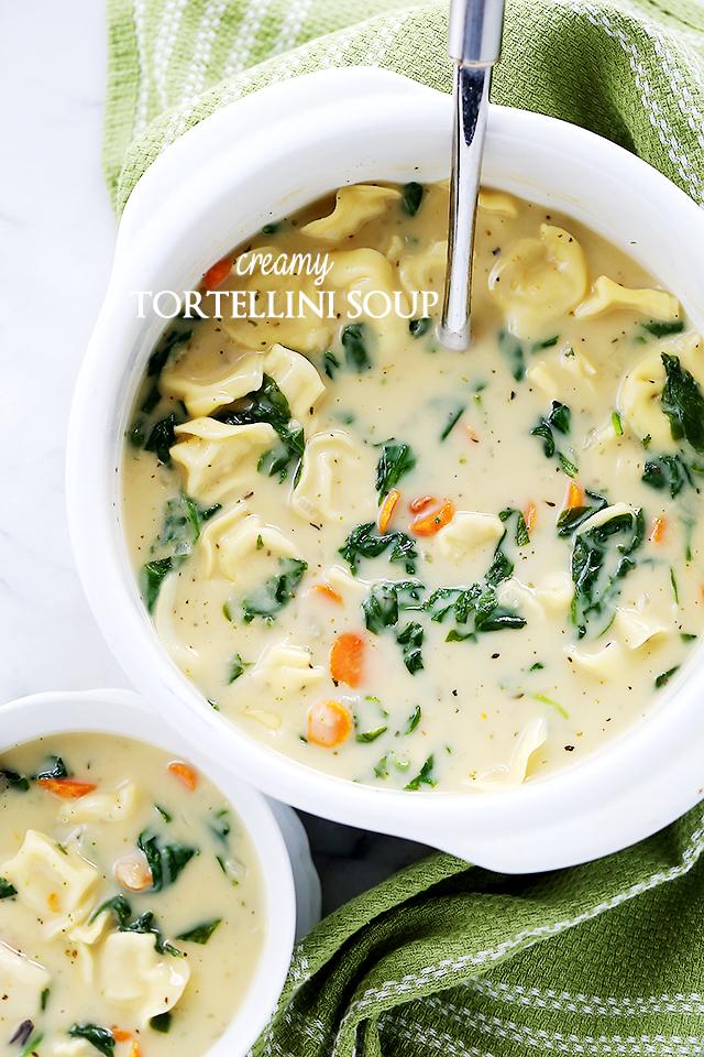 Creamy Tortellini Soup - Diethood