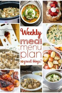 Weekly Meal Plan: Week 15