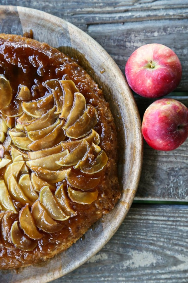 Maple Apple Skillet Upside Down Cake - Foodie with Family