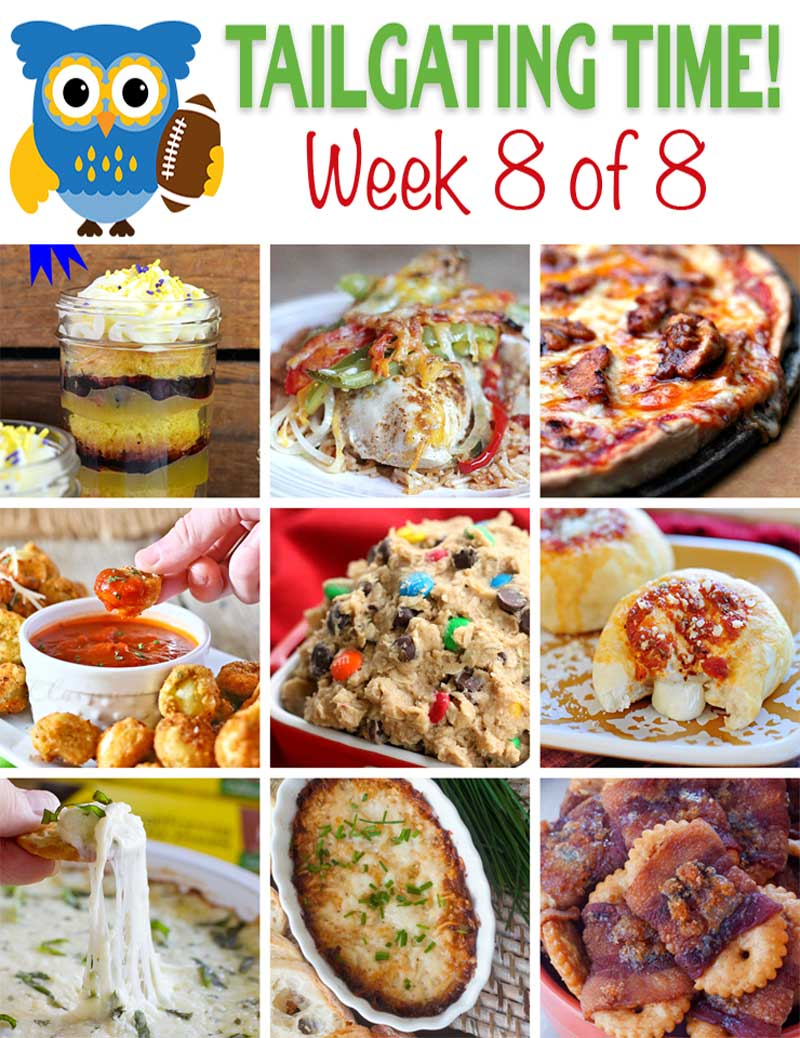 Welcome to week 8, our final week, of our Ultimate Tailgating Recipe Series.