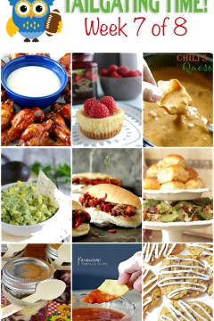 Tailgating Time Week 7: Easy menu for a football party! FULL of delicious food ideas!