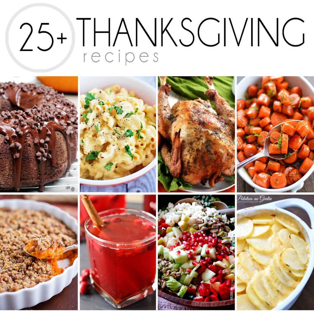 8 photos of thanksgiving recipes in a collage