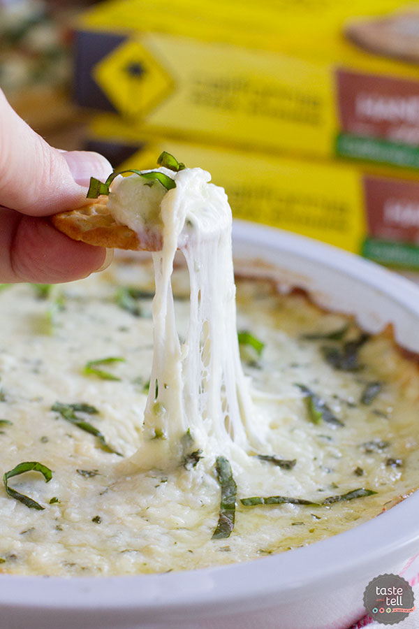 White Cheese Dip from Taste and Tell, featured on cravingsofalunatic.com for our Tailgating Time Series, Week 8!