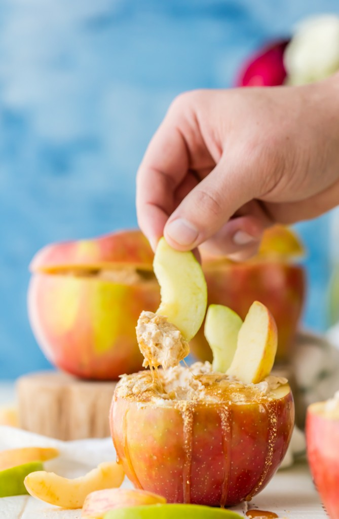 Caramel Cheesecake Apple Dip - The Cookie Rookie