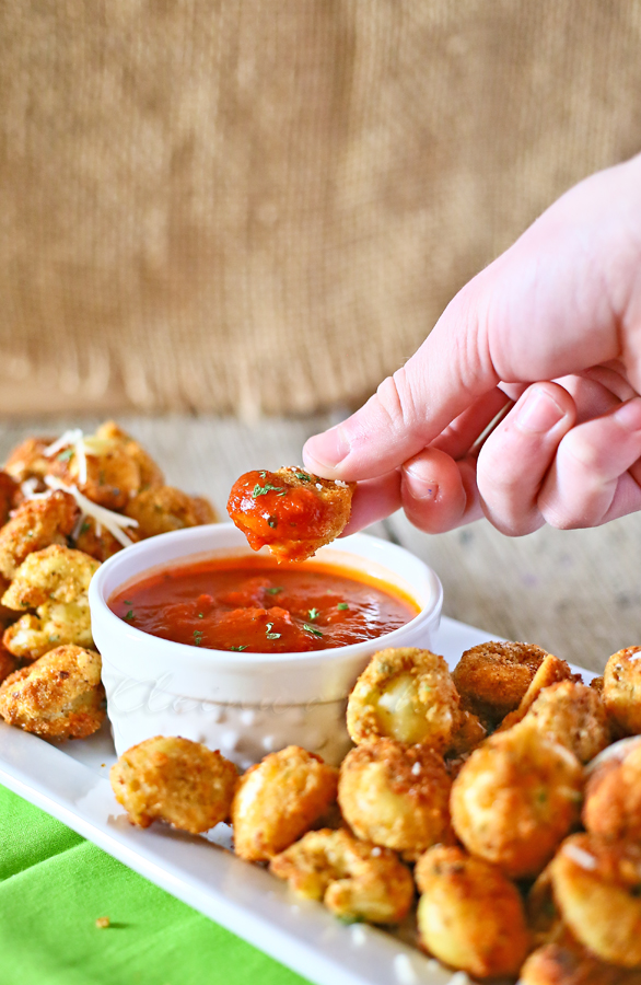 Deep Fried Tortellini by Kleinworth & Co, featured on cravingsofalunatic.com for our Tailgating Time Series, Week 8!
