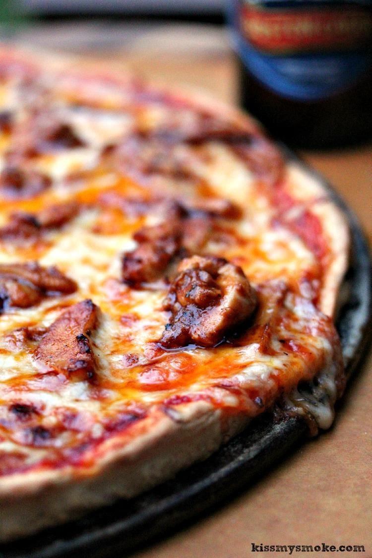 Buffalo Chicken Pizza from Kiss My Smoke, featured on cravingsofalunatic.com (@CravingsLunatic)