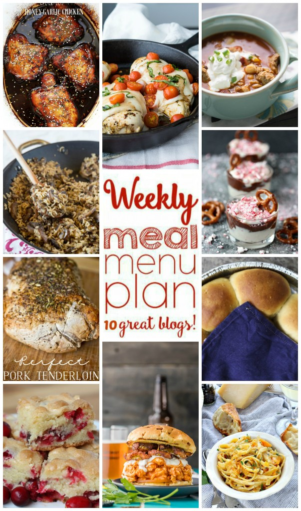 Weekly Meal Plan Week 20 – 10 great bloggers bringing you a full week of recipes including dinner, sides dishes, and desserts!