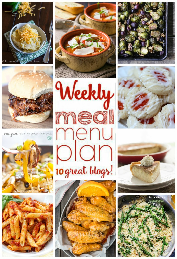Weekly Meal Plan Week 17 – 10 great bloggers bringing you a full week of recipes including dinner, sides dishes, drinks and desserts!