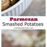 Parmesan Smashed Potatoes from cravingsofalunatic.com- Parmesan smashed potatoes are a family favourite in our household. They're a great alternative to mashed potatoes for the holidays, or all year long. (@CravingsLunatic)