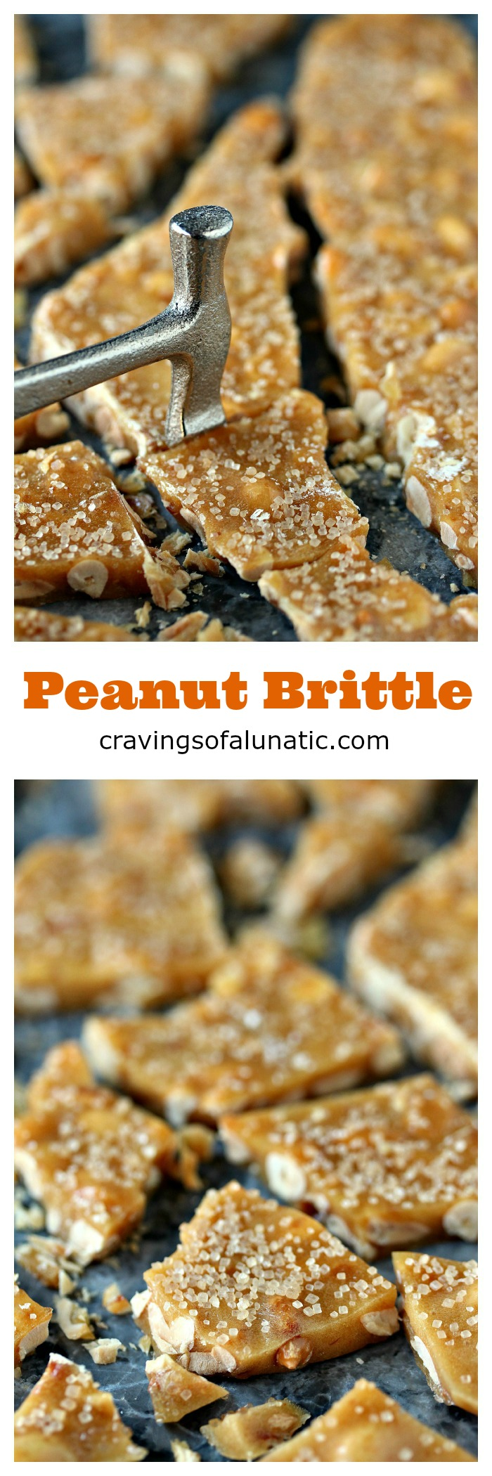 Peanut Brittle from cravingsofalunatic.com- Easy and quick, this Microwave Peanut Brittle is sheer perfection. Sweet mixes with salty for the perfect bite every time! (@CravingLunatic)