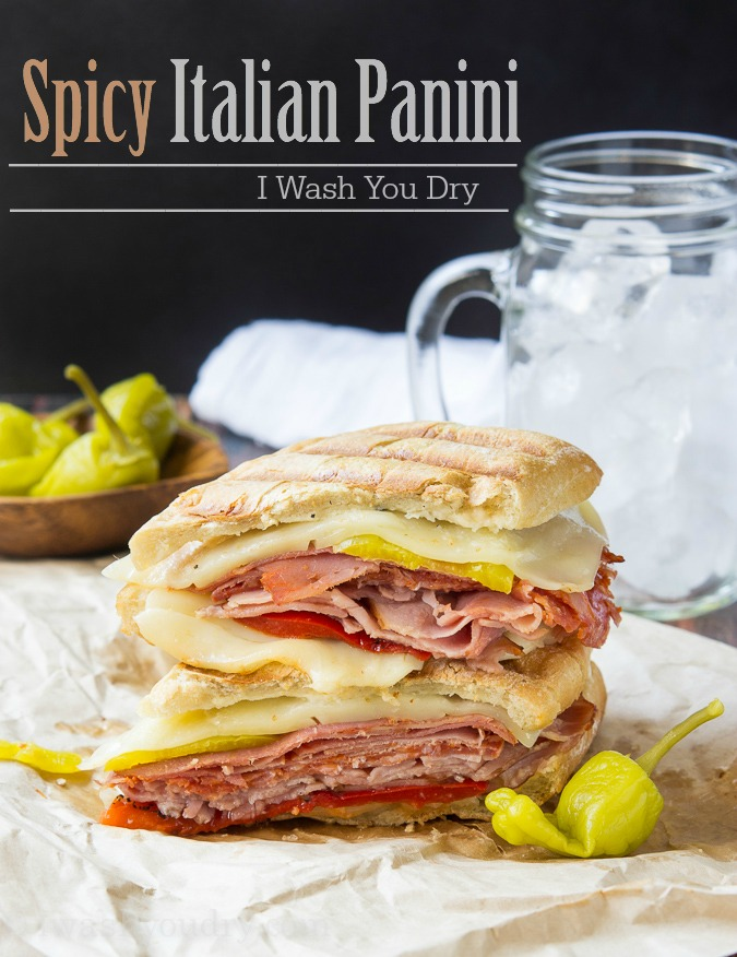 Spicy Italian Panini - I Wash...You Dry, featured on cravingsofalunatic.com for Weekly Meal Plan #19 (@CravingsLunatic)