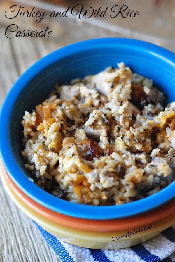 Turkey and Wild Rice Casserole - Lemons for Lulu, featured on cravingsofalunatic.com for Weekly Meal Plan #19 (@CravingsLunatic)