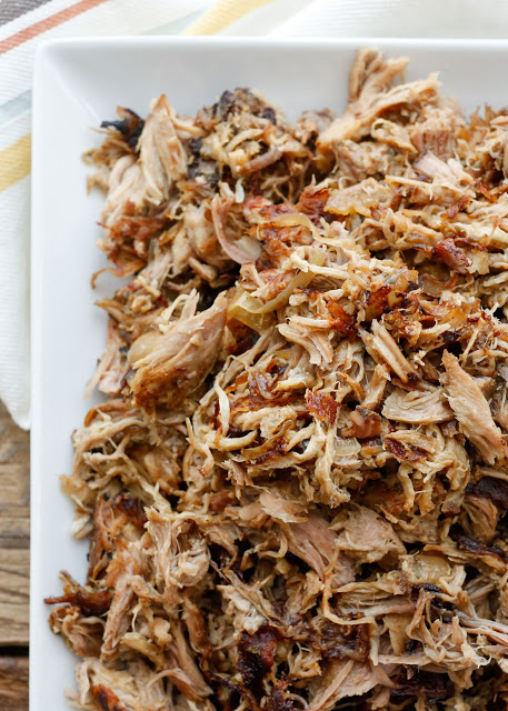 Slow Cooker Pork Carnitas - Barefeet in the Kitchen, featured on cravingsofalunatic.com for Weekly Meal Plan #19 (@CravingsLunatic)