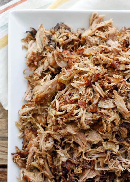 Slow Cooker Pork Carnitas - Barefeet in the Kitchen, featured on cravingsofalunatic.com for Weekly Meal Plan #19 (@CravingsLunatic)