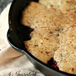 4 Ingredient Cherry Cobbler with Chocolate Chip Topping