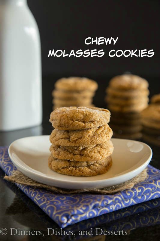 Chewy Molasses Cookies – Dinners, Dishes, and Desserts, featured on cravingsofalunatic.com for our Weekly Meal Plan: Week 21. See more meal planning recipes on the blog. (@CravingsLunatic)