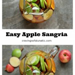 Easy Apple Sangria from cravingsofalunatic.com- Easy apple sangria you'll make time and time again! This recipe pops with fresh fruit and bright flavours! Whip up a batch, or two, today! (@CravingsLunatic)