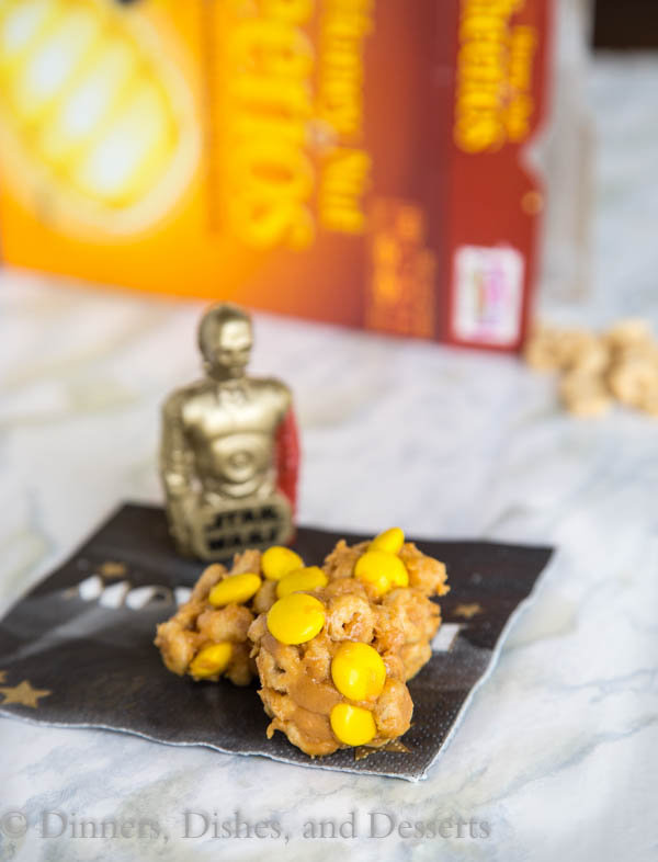 Honey Nut Cheerio Bites from dinnersdishesanddesserts.com