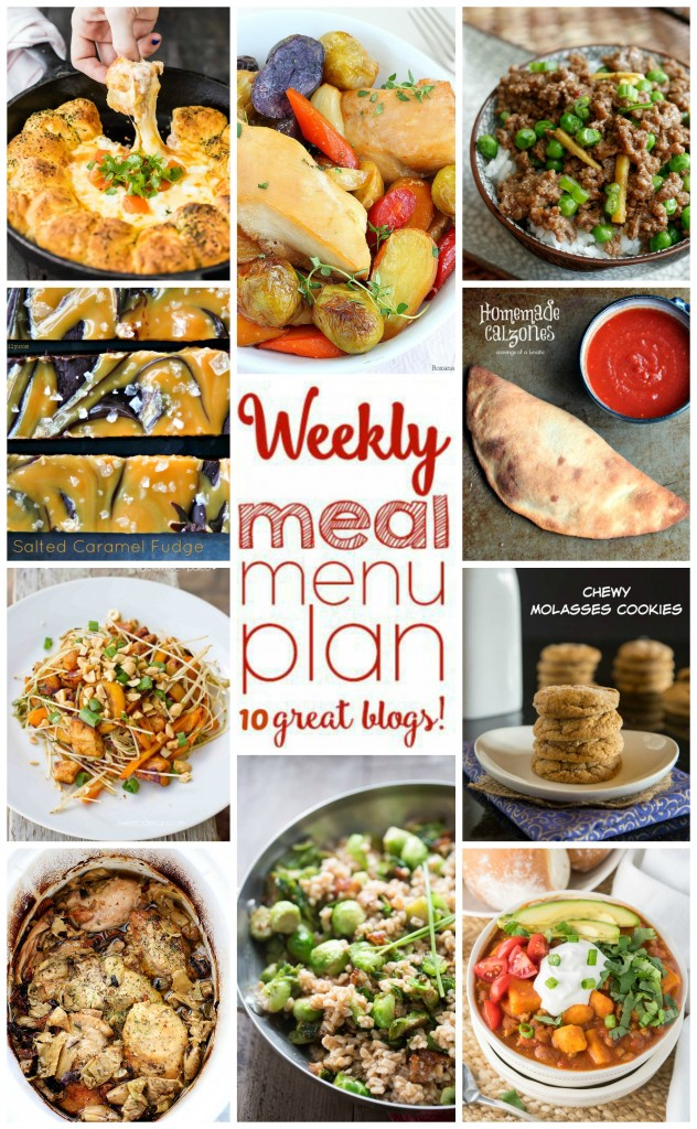 Weekly Meal Plan Week 21 collage image featuring recipes from the meal plan