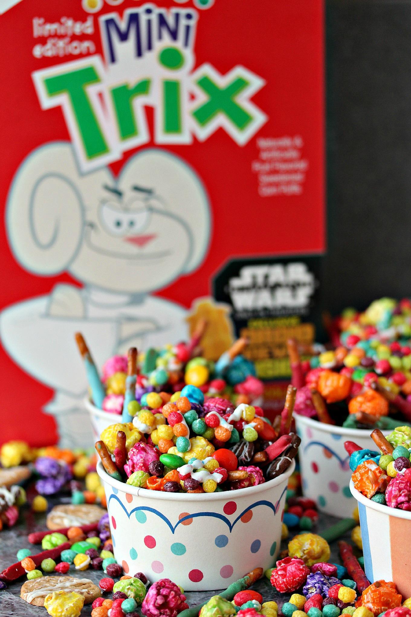 Mini Trix Cereal Jedi Snack Mix With Lightsaber Pretzels