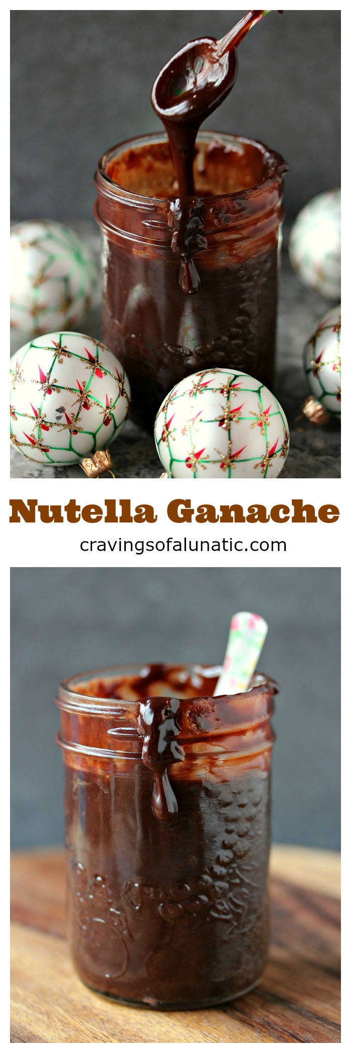 Nutella Ganache from cravingsofalunatic.com- There is nothing better than Nutella Ganache for topping sweets. I use it on topping cakes, cookie pizzas, ice cream, and even mini muffins. It's easy to make and utterly addictive! (@CravingsLunatic)