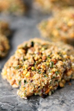 Pistachio Crusted Baked Cod from cravingsofalunatic.com- This Pistachio Crusted Baked Cod Recipe is part of our Feast of the Seven Fishes event. It's incredibly quick and easy to make. The cod is coated with yogurt, then coated with a pistachio mixture and cooked to perfection! (@CravingsLunatic)