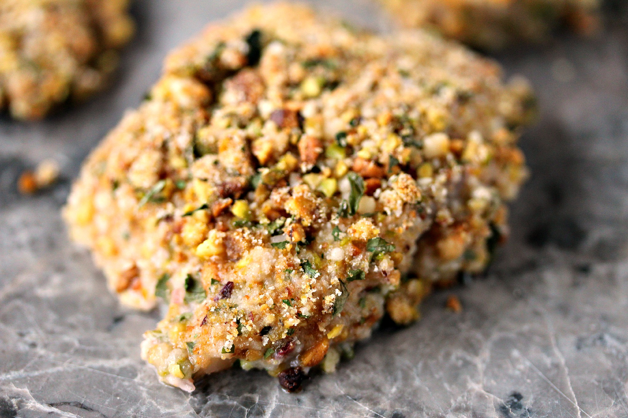 Pistachio Crusted Baked Cod