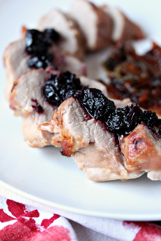 Pork Tenderloin with Haskapa Chutney from cravingsofalunatic.com- This recipe for pork tenderloin uses a dry rub, then it's cooked to perfection, and topped with Haskapa Chutney. The flavour of this one is out of this world. (@CravingsLunatic)