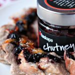 Pork Tenderloin with Haskapa Chutney