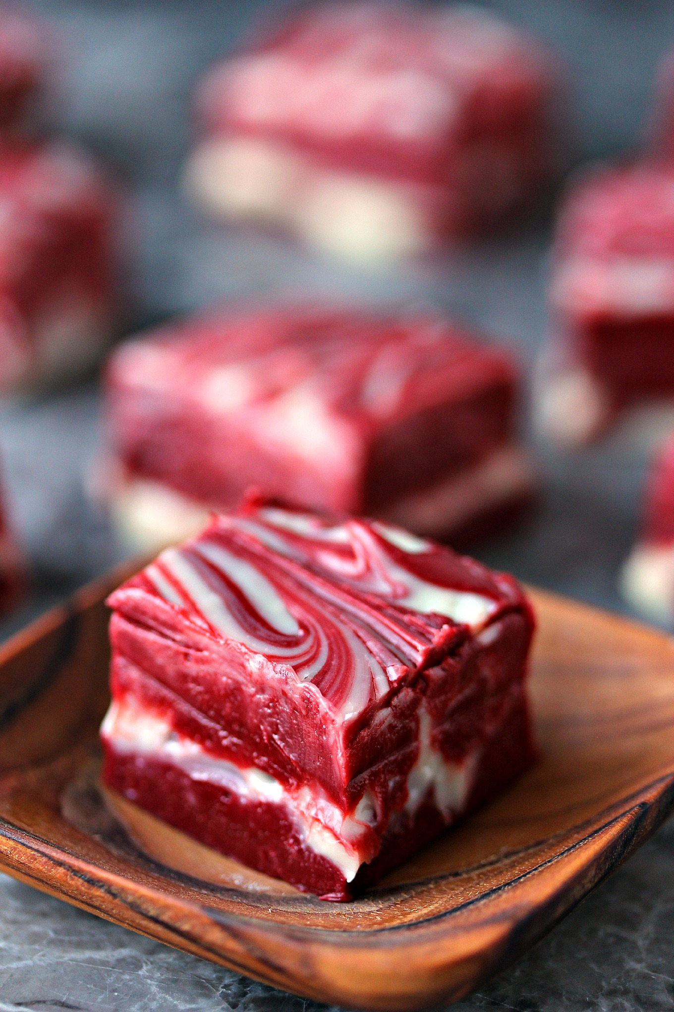 Red Velvet Swirl Fudge 4 Ingredients