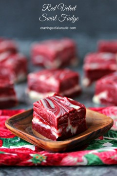 Red Velvet Swirl Fudge {4 Ingredients}