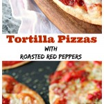 Tortilla Pizzas with Roasted Red Peppers