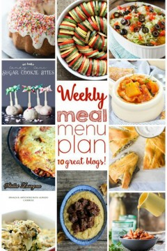 Weekly Meal Plan: Week 22