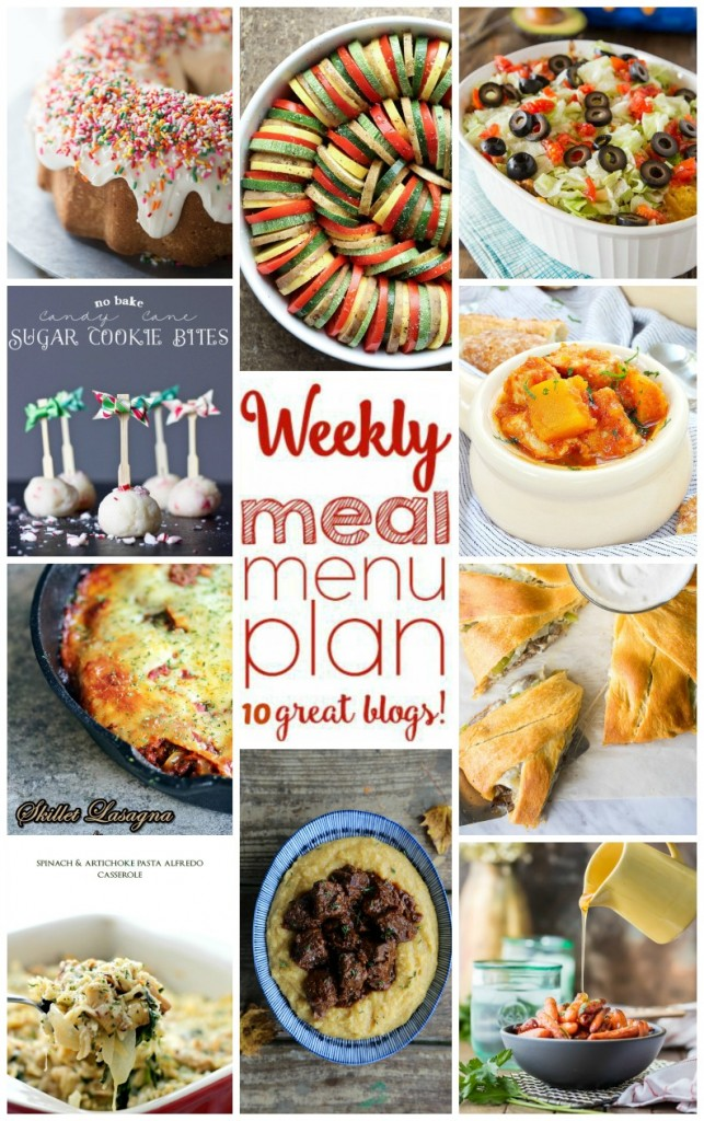 Weekly Meal Plan Week 22 - 10 great bloggers bringing you a full week of recipes including dinner, sides dishes, and desserts!