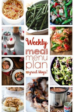 Weekly Meal Plan Week 27 - 10 great bloggers bringing you a full week of recipes including dinner, sides dishes, and desserts! Find more great meal planning recipes on cravingsofalunatic.com! Happy meal planning! (@CravingsLunatic)