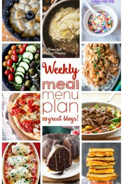 Weekly Meal Plan: Week 26
