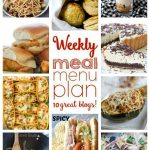 Weekly Meal Plan: Week 25