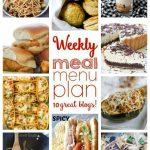 Weekly Meal Plan: Week 25