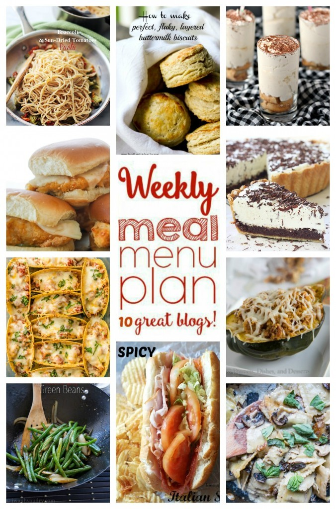Weekly Meal Plan Week 25 collage image featuring various recipes that you can make for meal prep.